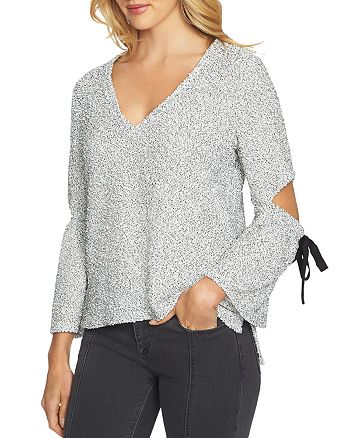 1.STATE - Bouclé Slit Sleeve Top