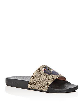 908bc939145 Gucci - Men s GG Supreme Wolf Head Slide Sandals