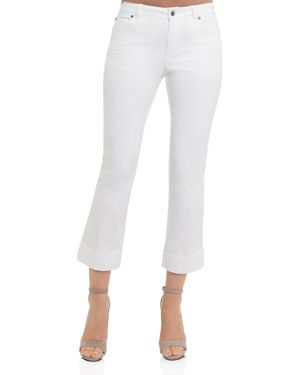 Foxcroft Cropped Jeans in White 2816852