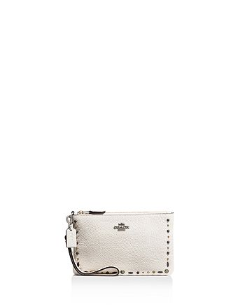 COACH - Prairie Riveted Leather Wristlet