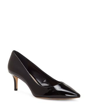 Vince Camuto Women's Kemira Patent Leather Pointed Toe Mid Heel Pumps 2803047