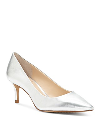 Vince Camuto Women's Kemira Patent Leather Pointed Toe Mid Heel Pumps 7eXu5y