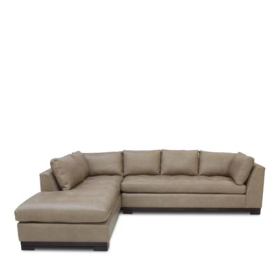 Carter 2-Piece Leather Sectional - Right Facing Chaise - 100% Exclusive
