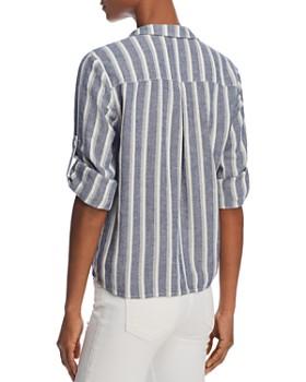Bella Dahl - Striped Tie-Front Button-Down Shirt - 100% Exclusive