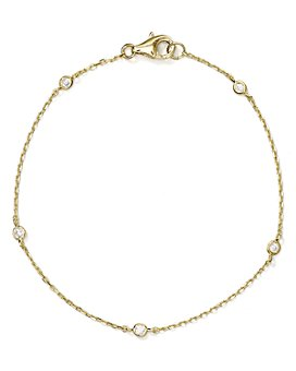 AQUA - Sterling Silver Thin Chain Bracelet - 100% Exclusive