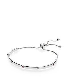 PANDORA Sterling Silver & Cubic Zirconia Explosion of Love Bracelet - Bloomingdale's_0
