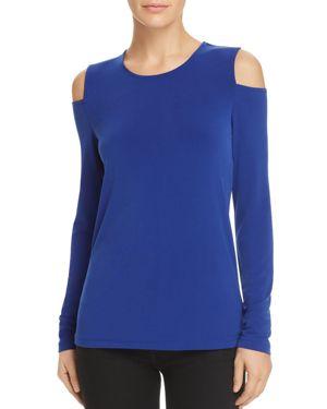 Donna Karan New York Cold-Shoulder Top