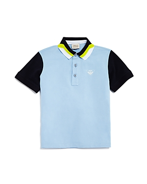 Boys Armani Junior Colorblock Polo Size 16Y  Blue