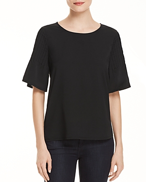 French Connection Pin-Tucked Sleeve Top