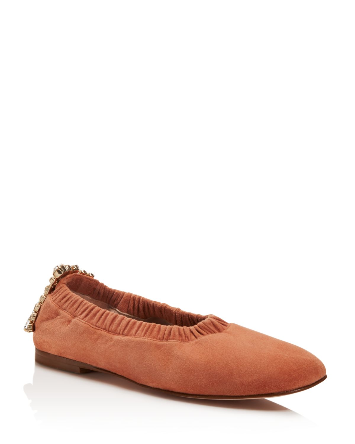 Stuart Weitzman Embellished Square-Toe Loafers