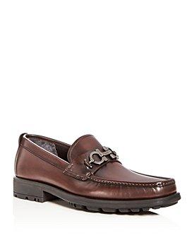 Salvatore Ferragamo - Men's David Leather Loafers - Wide