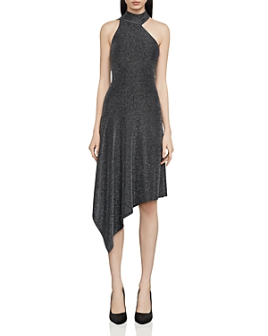 Bcbgmaxazria Rivas Metallic Asymmetric Dress
