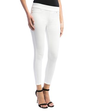 Riley Relaxed Crop In Stretch Peached Twill In Bright White, Bright White