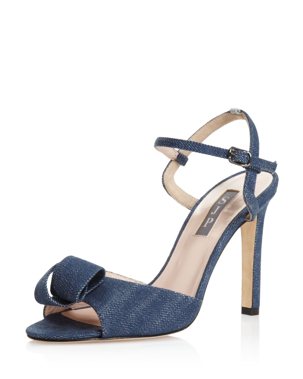 Sjp Women's Ferry Denim High-Heel Ankle Strap Sandals - 100% Exclusive