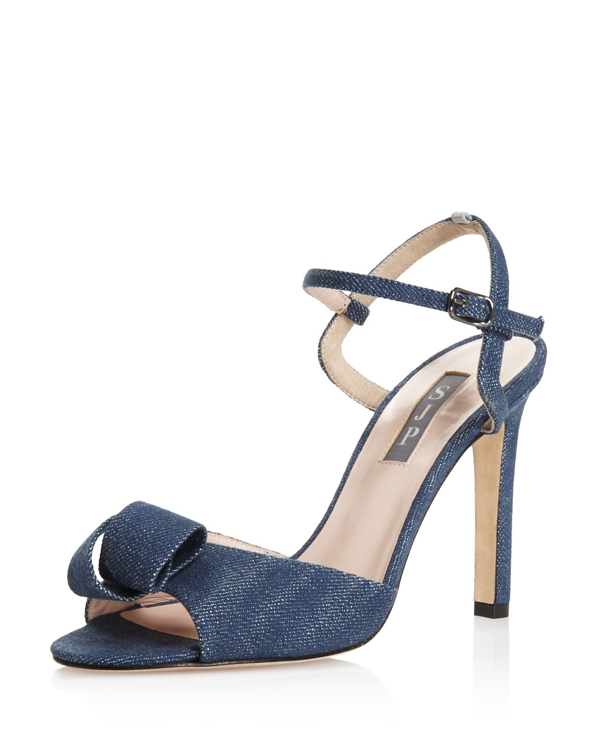 Sjp Women's Ferry Denim High-Heel Ankle Strap Sandals - 100% Exclusive nMe0K