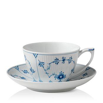 Royal Copenhagen - Blue Fluted Plain Tea Cup & Saucer
