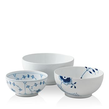 Royal Copenhagen - History Mixing Bowl, Set of 3