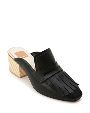Dolce Vita Women's Katina Leather Block Heel Mules