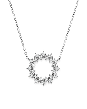 Bloomingdale's Diamond Circle Pendant Necklace in 14K White Gold, 0.35 ct. t.w. - 100% Exclusive