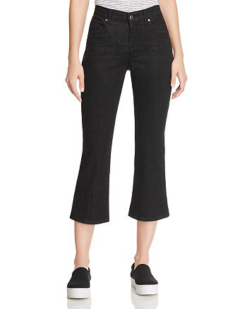 Eileen Fisher - Cropped Bootcut Jeans in Black