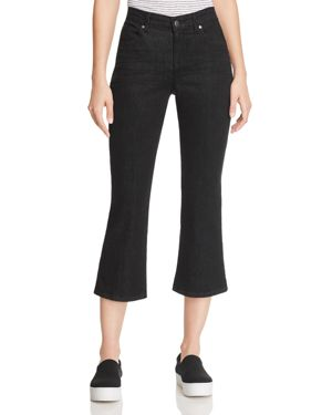 Eileen Fisher Petites Flared Cropped Jeans in Vintage Black 2836756