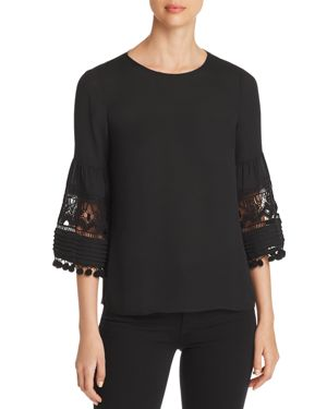 DANIEL RAINN EMBELLISHED BELL-SLEEVE TOP