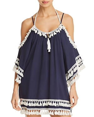 Surf Gypsy Cold-Shoulder Tunic Swim Cover-Up