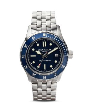 JACK MASON Diving Bracelet Watch, 42Mm in Navy/ Stainless Steel
