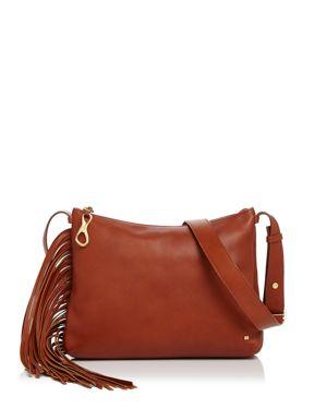Halston Heritage Tina Fringe Leather Crossbody 2835814