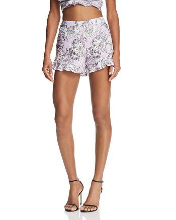 Bardot - Ruffle-Hem Floral Print Shorts