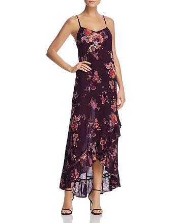 AQUA - Floral Print Ruffle-Hem Maxi Dress - 100% Exclusive