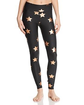 Terez - Metallic Star Print Leggings