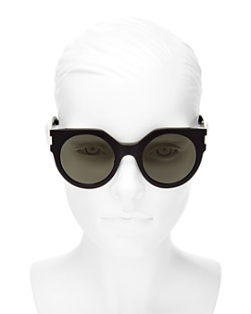 Saint Laurent - Women's Slim Feminine Oversized Cat Eye Sunglasses, 50mm