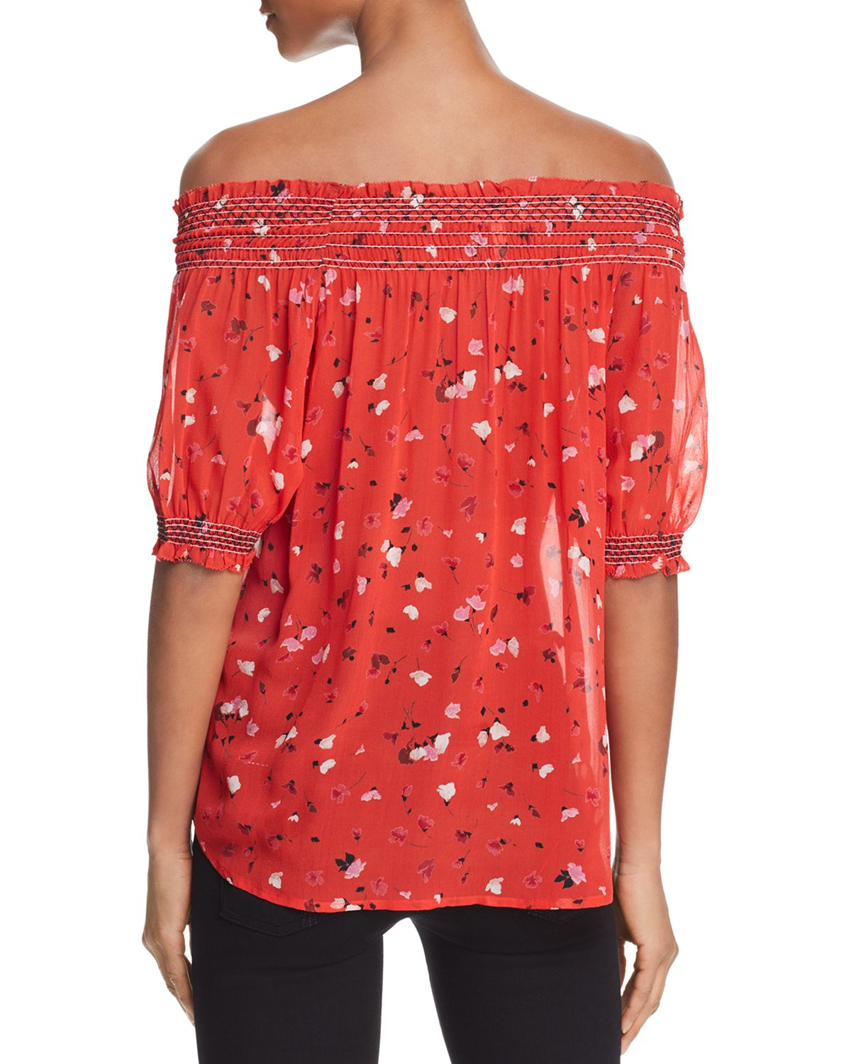 Gualberta Off The Shoulder Silk Top by Joie