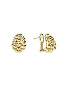 LAGOS - Caviar Gold Collection 18K Gold Domed Huggie Earrings