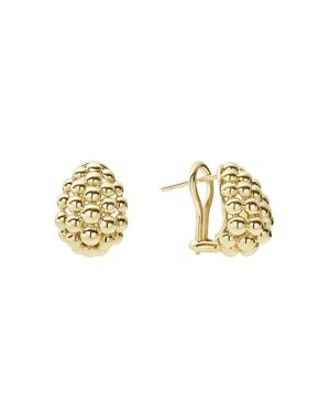 Lagos Caviar Gold Collection 18K Gold Domed Huggie Earrings