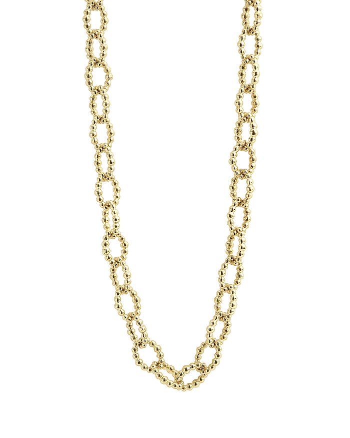 """LAGOS - Caviar Gold Collection 18K Gold Beaded Link Necklace, 32"""""""