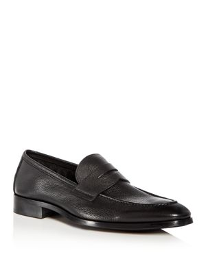 Men'S Johnson Leather Apron Toe Penny Loafers, Tmoro Leather