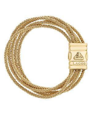 Lagos Caviar Gold Collection 18K Gold Five Strand Bracelet