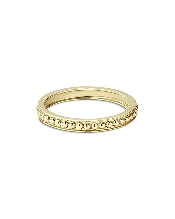 LAGOS - Caviar Gold Collection 18K Gold Beaded Stacking Ring