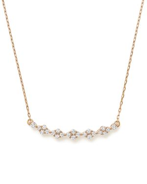 Bloomingdale's Diamond Cluster Bar Necklace in 14K Rose Gold, 0.40 ct. t.w. - 100% Exclusive