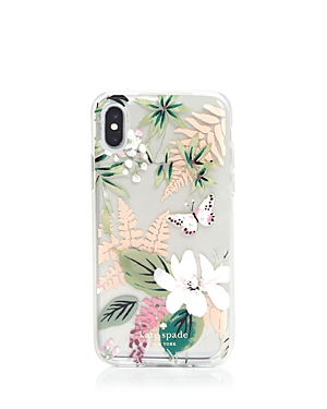 kate spade new york Jeweled Botanical Clear iPhone X Case