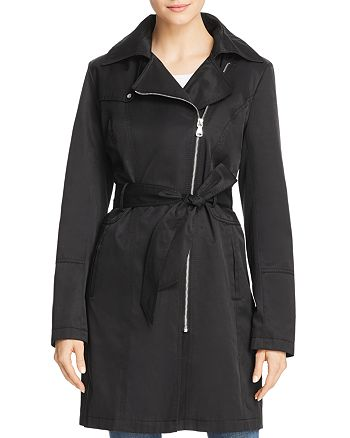 VINCE CAMUTO - Asymmetric Front Belted Trench Coat