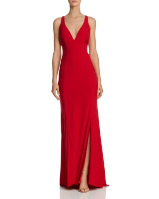 $Mac Duggal Plunging Gown - Bloomingdale's