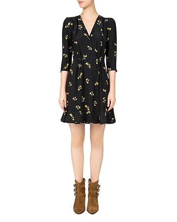 The Kooples - Popcorn Floral-Print Silk Dress