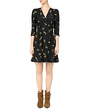 The Kooples Popcorn Floral-Print Silk Dress
