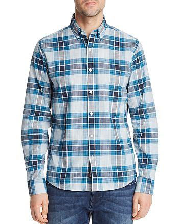 Michael Kors - Dozier Check Slim Fit Long Sleeve Button-Down Shirt