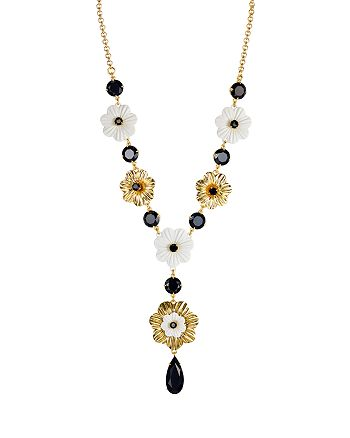 """kate spade new york - Small Floral Necklace, 18"""""""