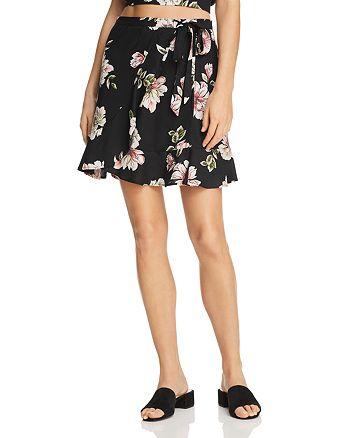 Band of Gypsies - Flounced Floral-Print Mini Skirt