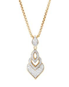 "John Hardy 18K Yellow Gold Legends Naga Pavé Diamond Pendant Necklace, 16"" - Bloomingdale's_0"